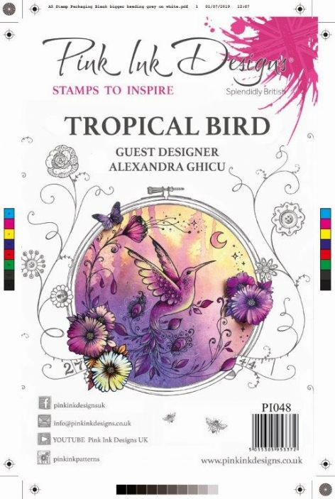 Pink Ink Designs Clear Stamp Tropical Bird A5